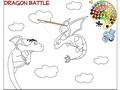Драконья битва: раскраска