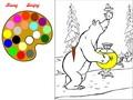 Медведь и самовар: раскраска