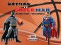 Бэтмен и Супермен играют в баскетбол