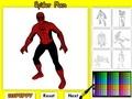 Человек Паук: раскраска
