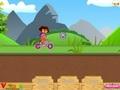 Даша Слеопыт на розовом велосипеде