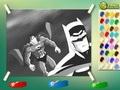 "Раскраска ""Бэтмен против Супермена"""