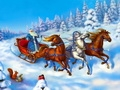 """Пазл """"Дед Мороз на санях"""""""