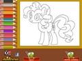 """Раскраска """"Необычный пони"""""""