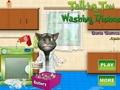 Говорящий кот: моем посуду