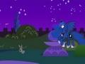 Полет принцессы Луны ночью