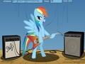 Радуга Дэш играет на электогитаре