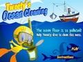Твити чистит океан