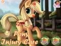 Уход за раненым пони