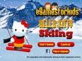 Хелло Китти на лыжах